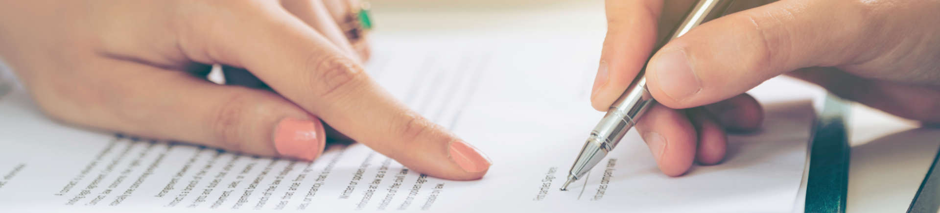 person signing real estate documents